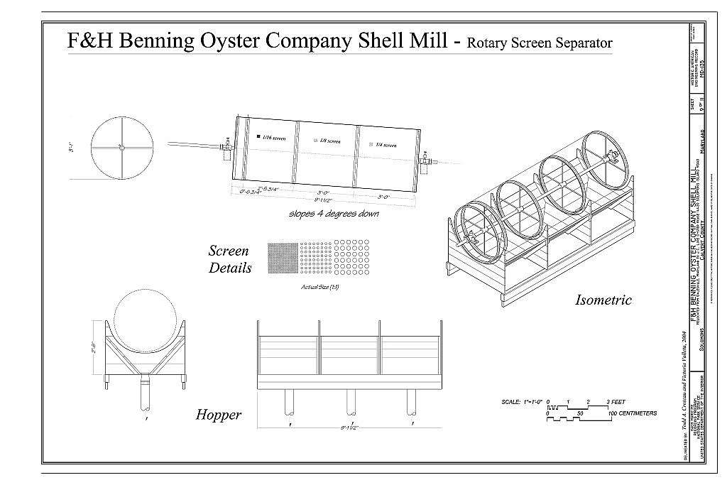 F. & H. Benning Company Oyster Mill, 14430 Solomons Island Road (moved from 1014 Benning Road, Galesville, Anne Arundel County, Maryland), Solomons, Calvert County, MD