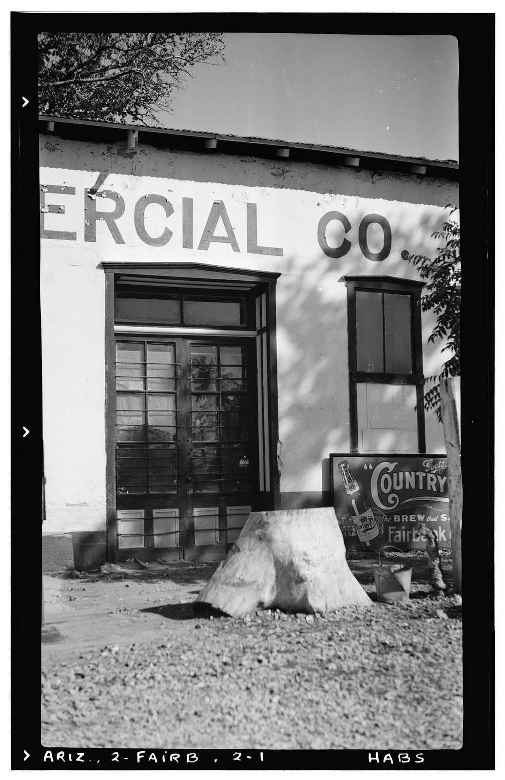 Fairbank Commercial Company Building, Fairbank (historical), Cochise County, AZ