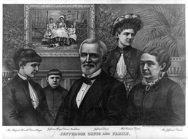 Jefferson Davis and family