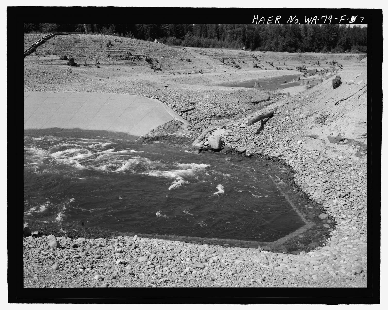 Kachess Dam, Inlet Channel, Kachess River, 1.5 miles north of Interstate 90, Easton, Kittitas County, WA
