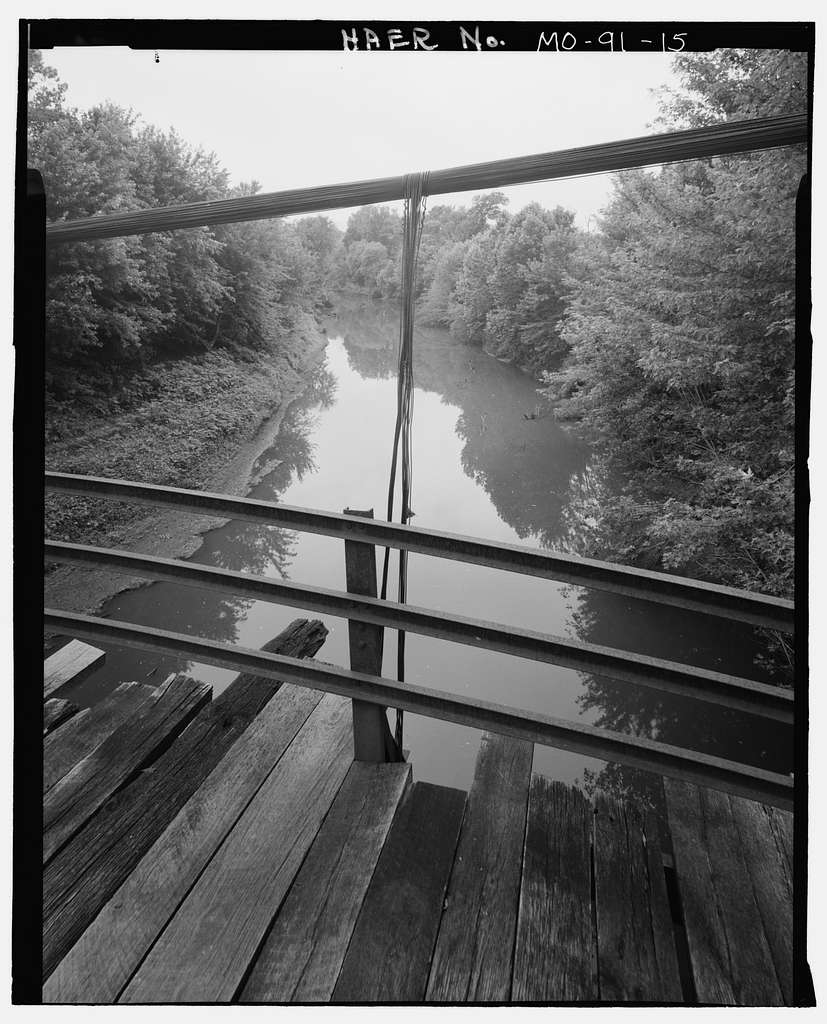Klenklen Bridge, Spanning Lamine River at County Road 223, Pleasant Green, Cooper County, MO