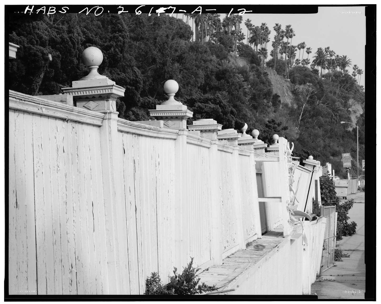 Marion Davies Estate, Fence & Bulkhead, 415 Pacific Coast Highway, Santa Monica, Los Angeles County, CA