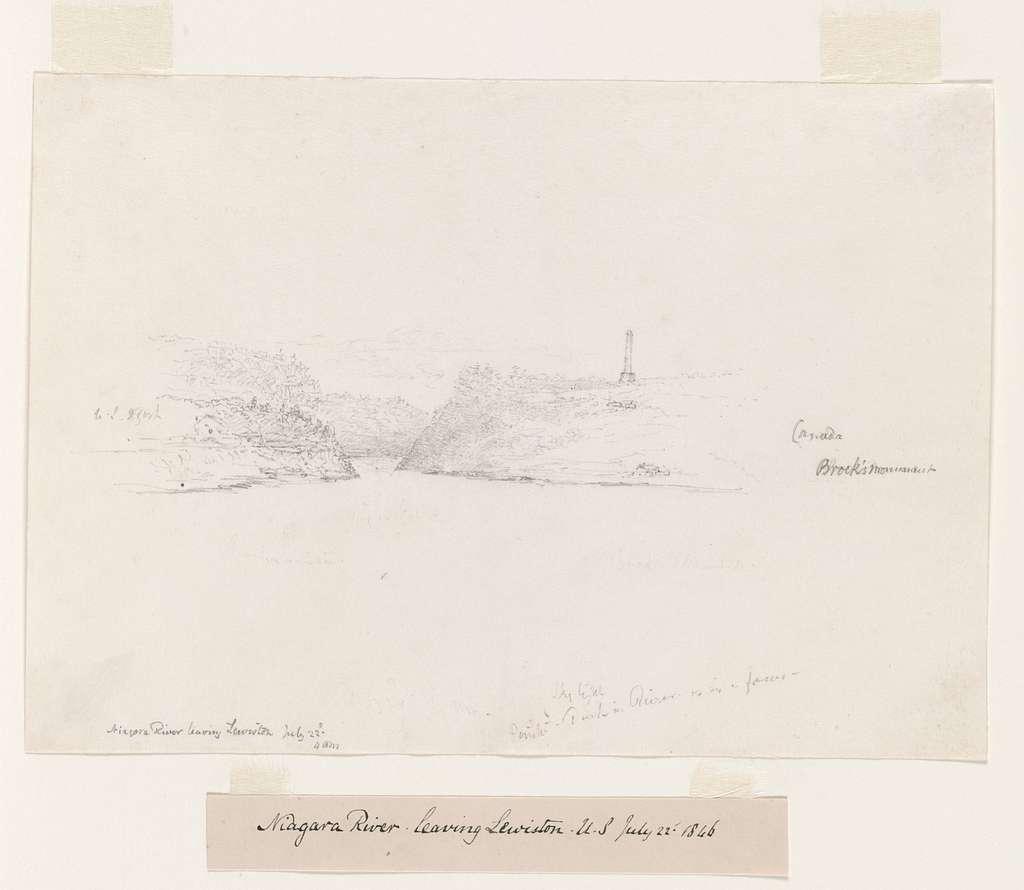 Niagara River leaving Lewiston, U.S. July 22nd 1846