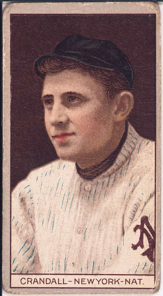 [Otis Crandall, New York Giants, baseball card portrait]