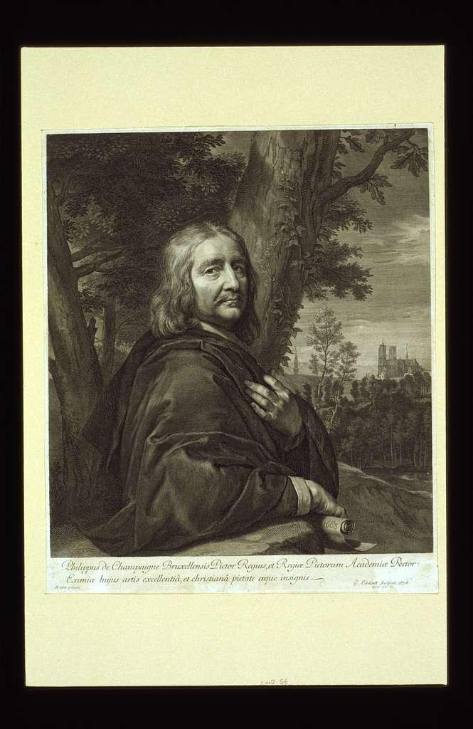 Philippus de Champaigne Bruxellensis pictor regius, ... / Se ipse pinxit ; G. Edelink sculpsit 1676.
