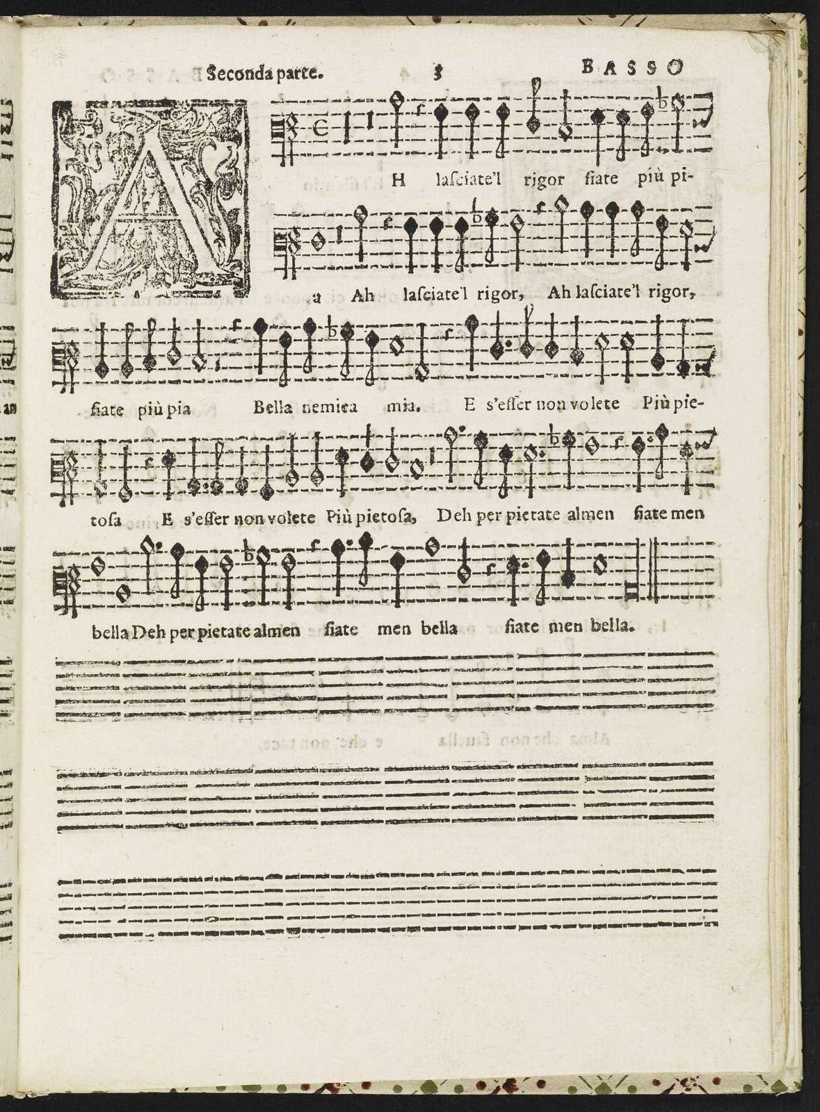 Secondo libro de madrigali senza nome a cinque voci