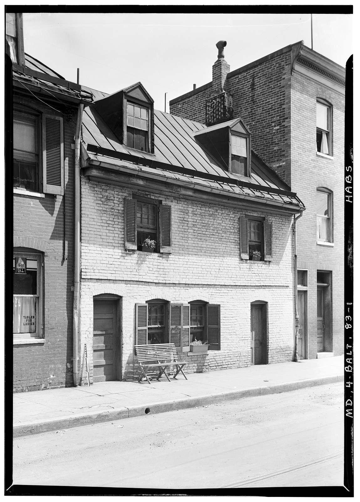 Shakespeare Street, 1600 Block (Brick Cottage), Baltimore, Independent City, MD