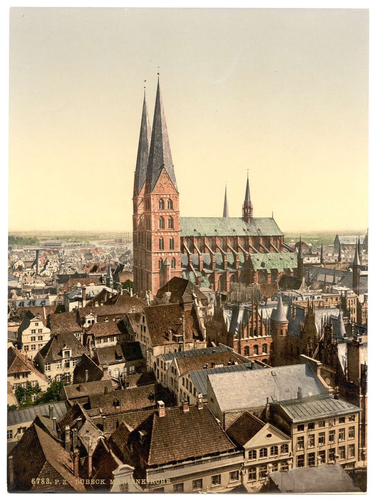 [St. Mary's, from St. Peter's Clock Tower, Lubeck, Germany]