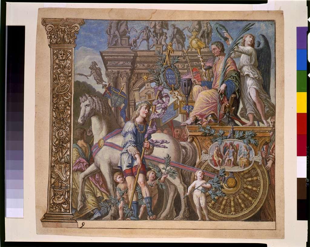 [Triumph(us) Caesaris (The triumph of Julius Caesar), plate 9]
