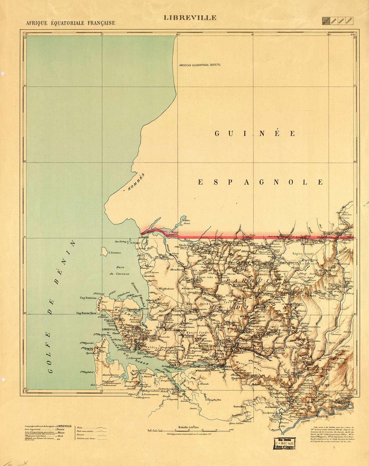 Afrique équatoriale française.