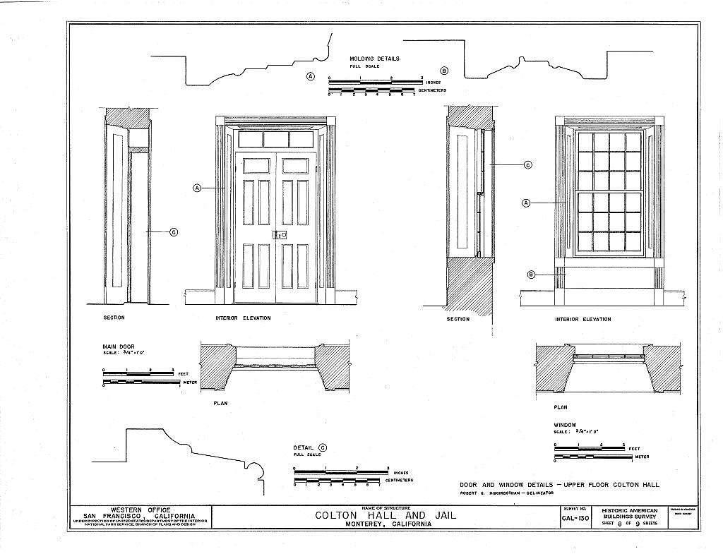 Colton Hall & Jail, Pacific Street, between Madison & Jefferson Streets, Monterey, Monterey County, CA