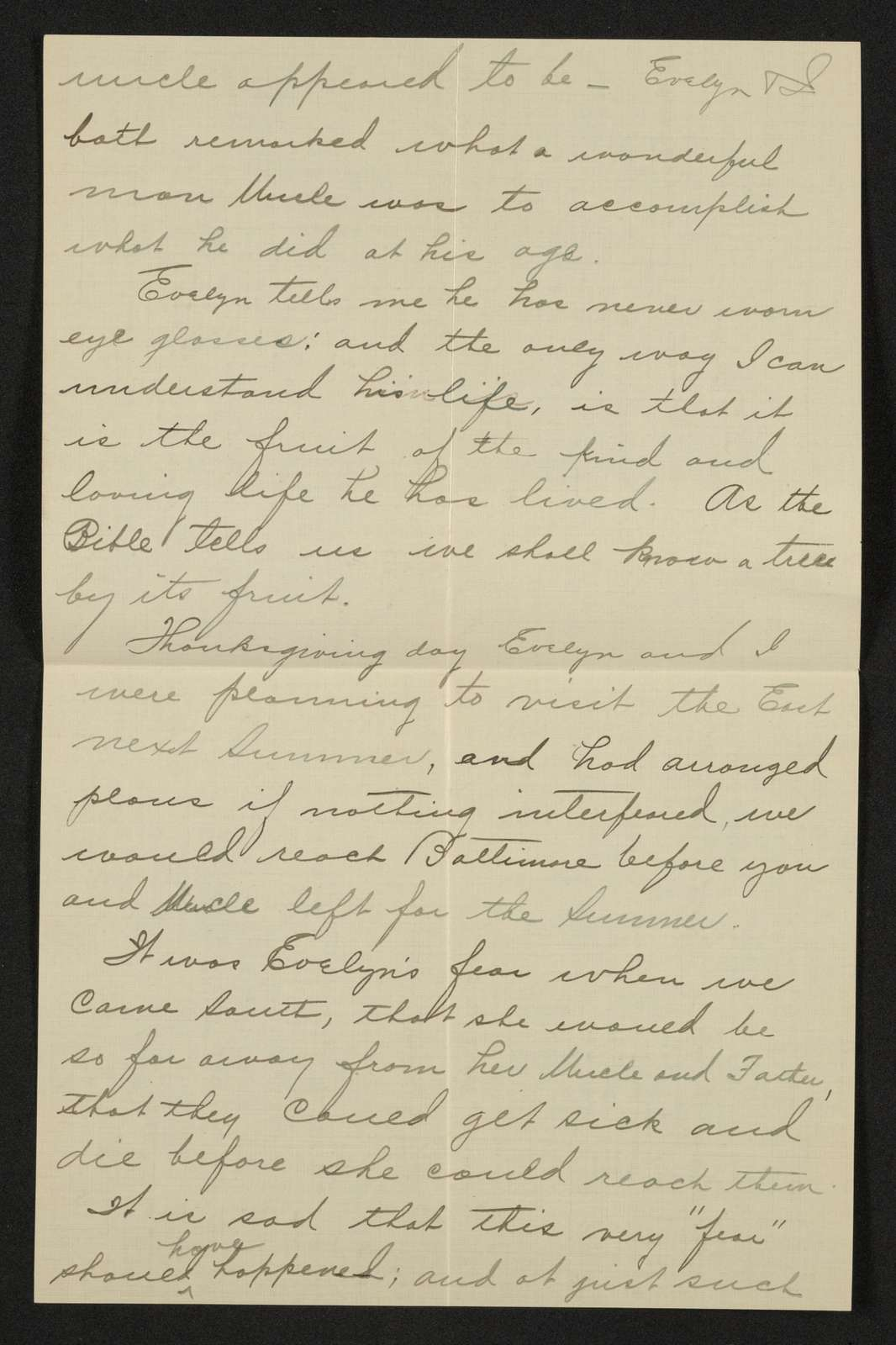 Lewis H. Machen Family Papers: Gresham Family Correspondence, 1834-1925; 1901-1925