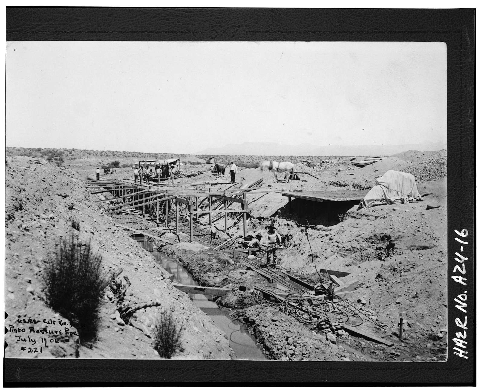 Roosevelt Power Canal & Diversion Dam, Parallels Salt River, Roosevelt, Gila County, AZ