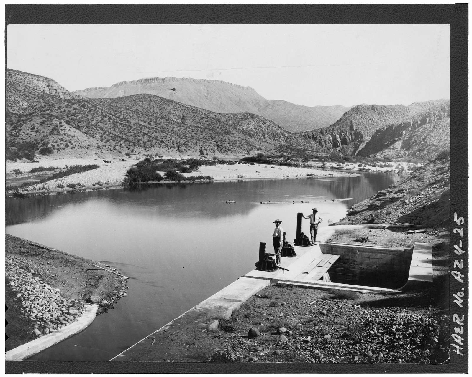 Roosevelt Power Canal & Diversion Dam, Parallels Salt River, Roosevelt, Gila County, AZ