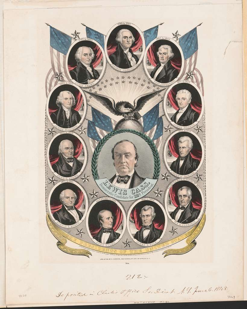 The Presidents of the United States Lewis Cass, Democratic candidate for 12th president.