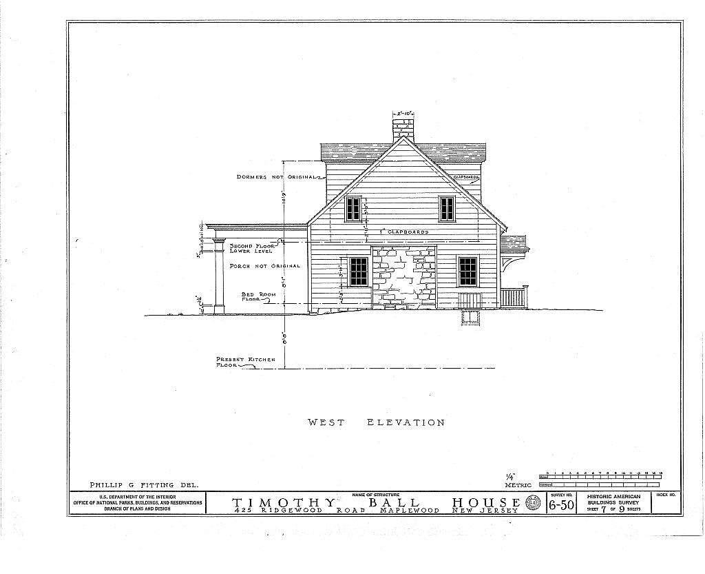 Timothy Ball House, 425 Ridgewood Road, Maplewood, Essex County, NJ