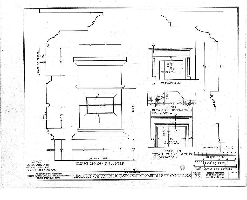 Timothy Jackson House, 527 Washington Street, Newton, Middlesex County, MA