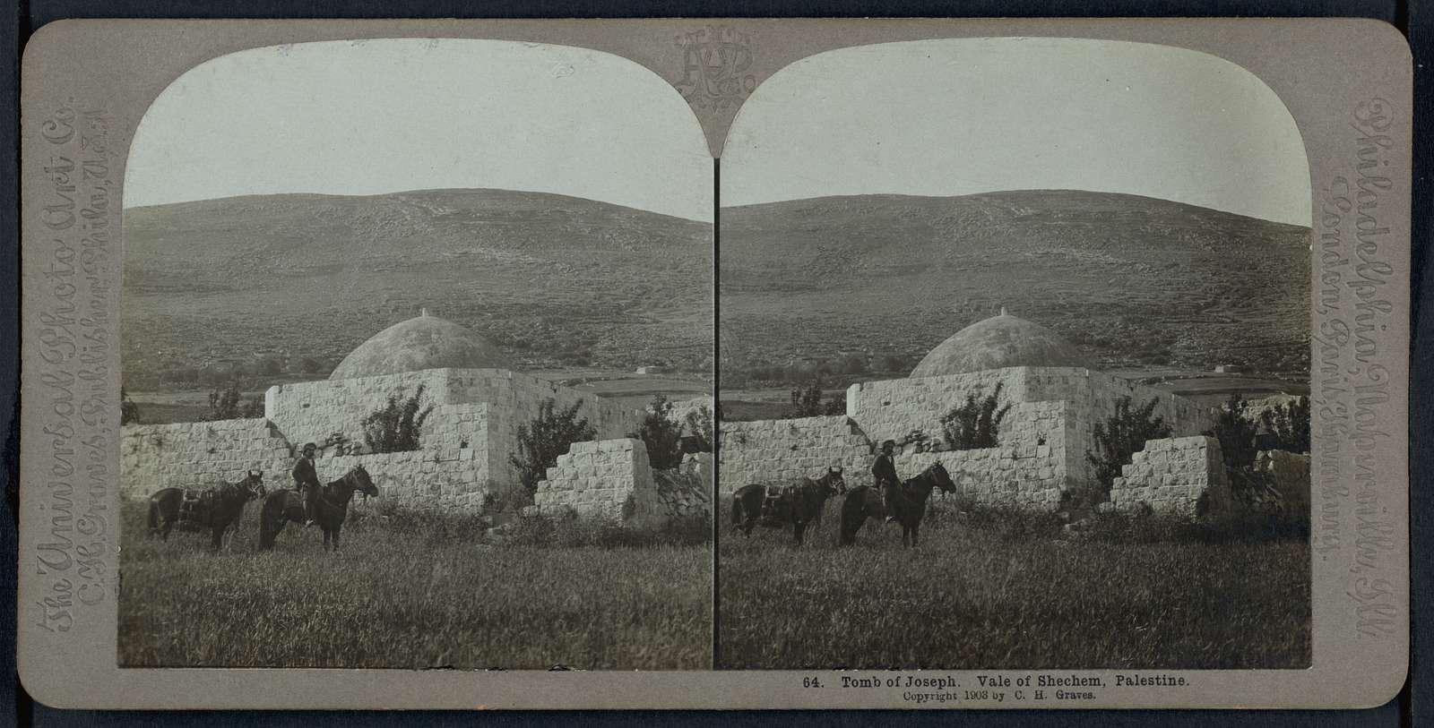 Tomb of Joseph. Vale of Shechem, Palestine