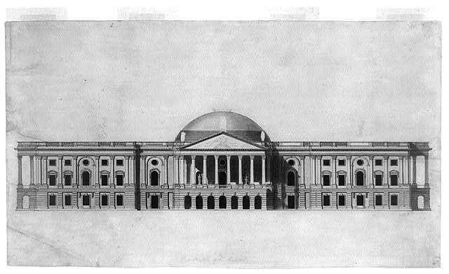 [U.S. Capitol, Washington, D.C. East elevation, low dome]