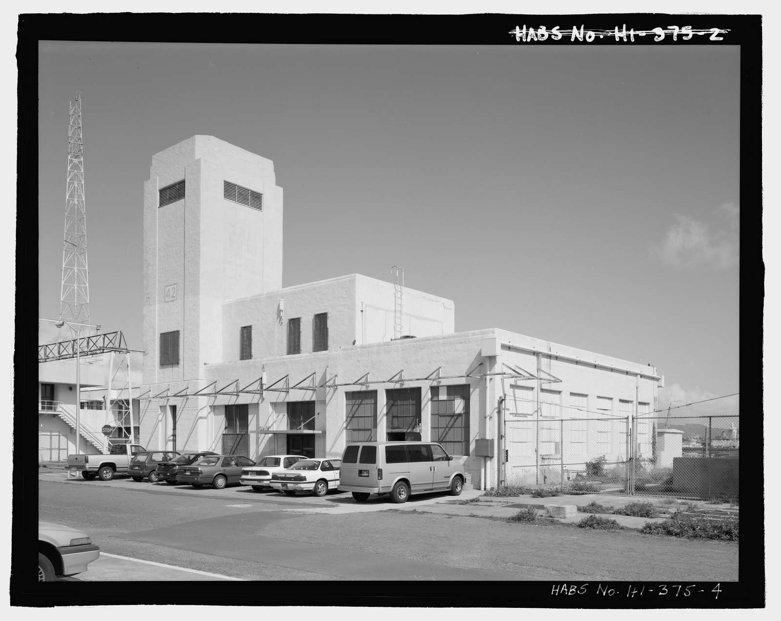 U.S. Naval Base, Pearl Harbor, Fire Station, Liscome Bay Street near Hornet Avenue, Pearl City, Honolulu County, HI