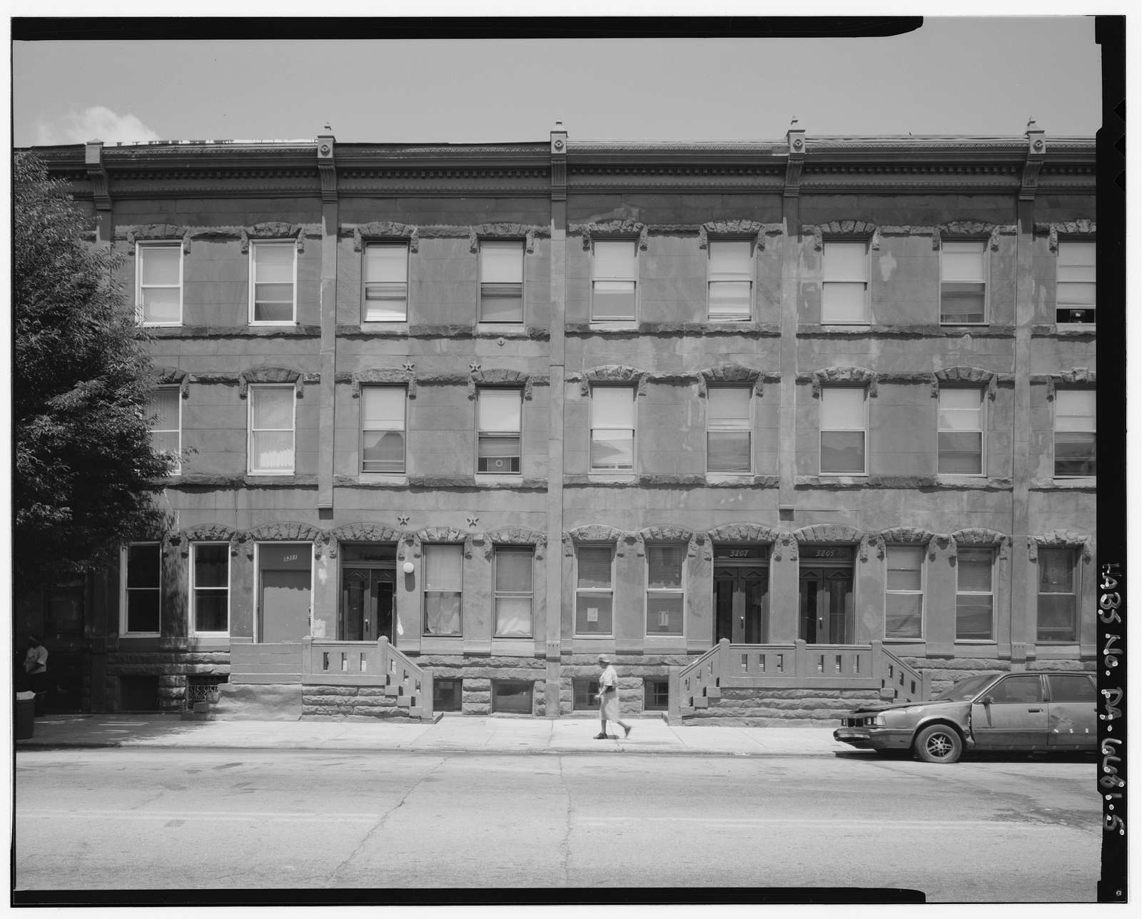 3200 Block Diamond Street (Houses & Storefront), North side, Philadelphia, Philadelphia County, PA