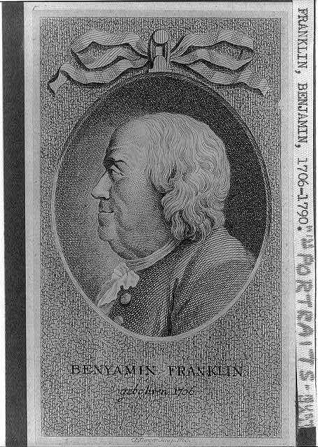Benyamin [sic] Franklin gebohren 1706 / D. Berger sculp., 1783.