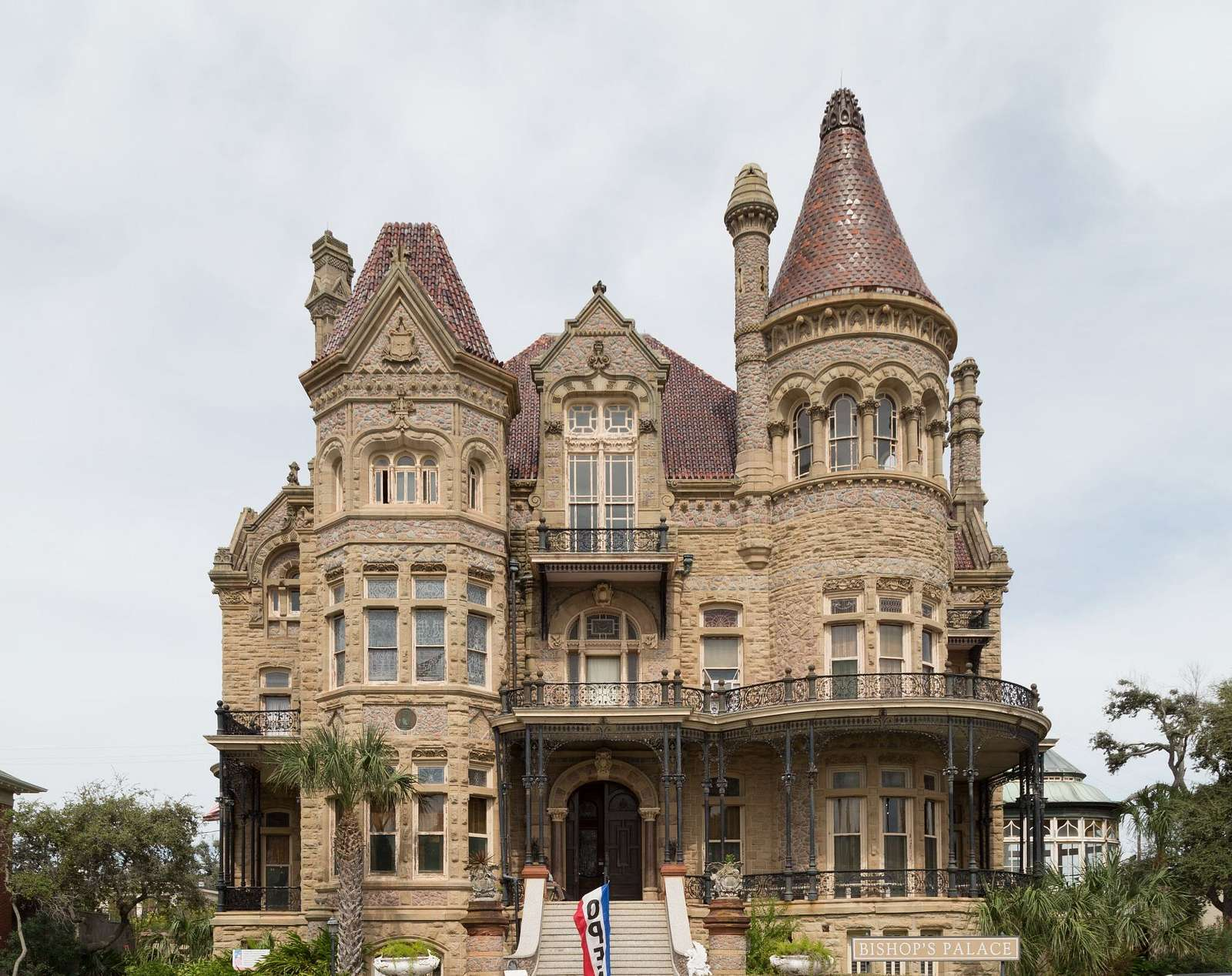 """Bishop's Palace,"" also known as Gresham's Castle, an ornate Victorian-style house, located on Broadway and 14th Street in the East End Historic District of Galveston, Texas"