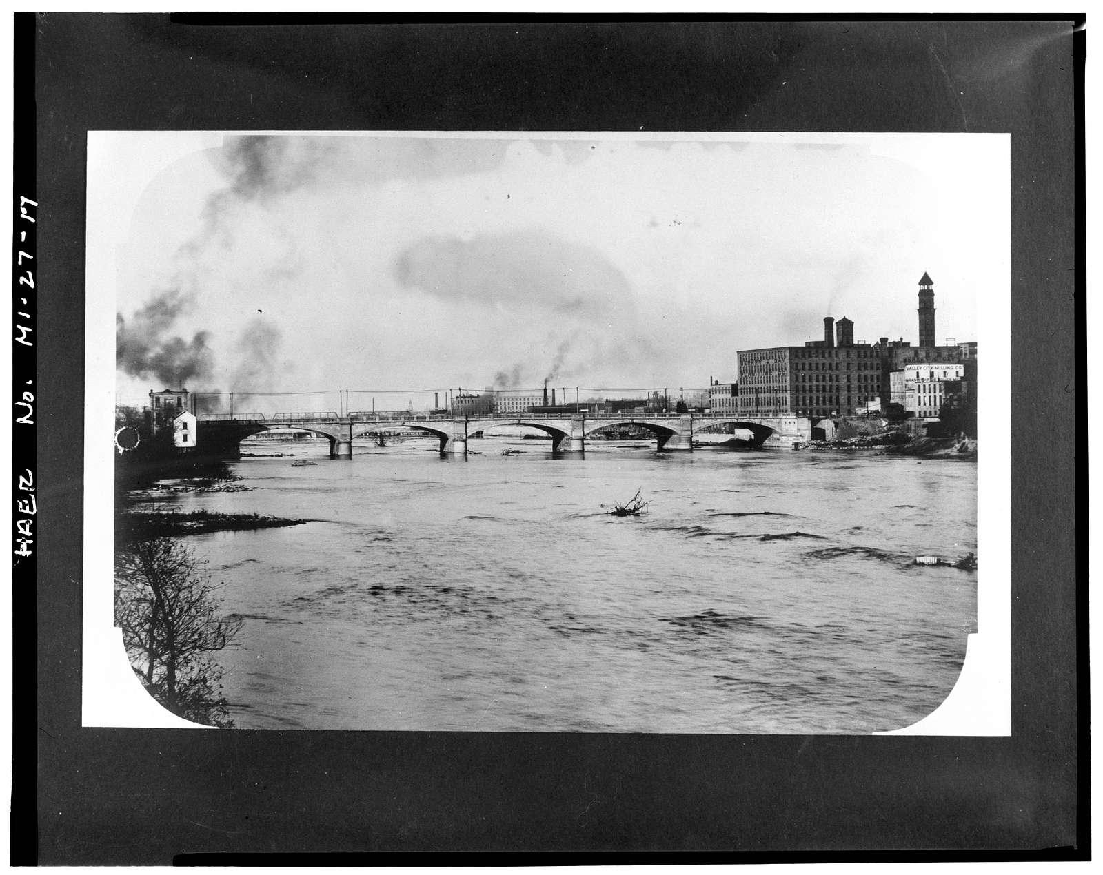 Bridge Street Bridge, Spanning Grand River, Michigan & Bridge Streets, Grand Rapids, Kent County, MI