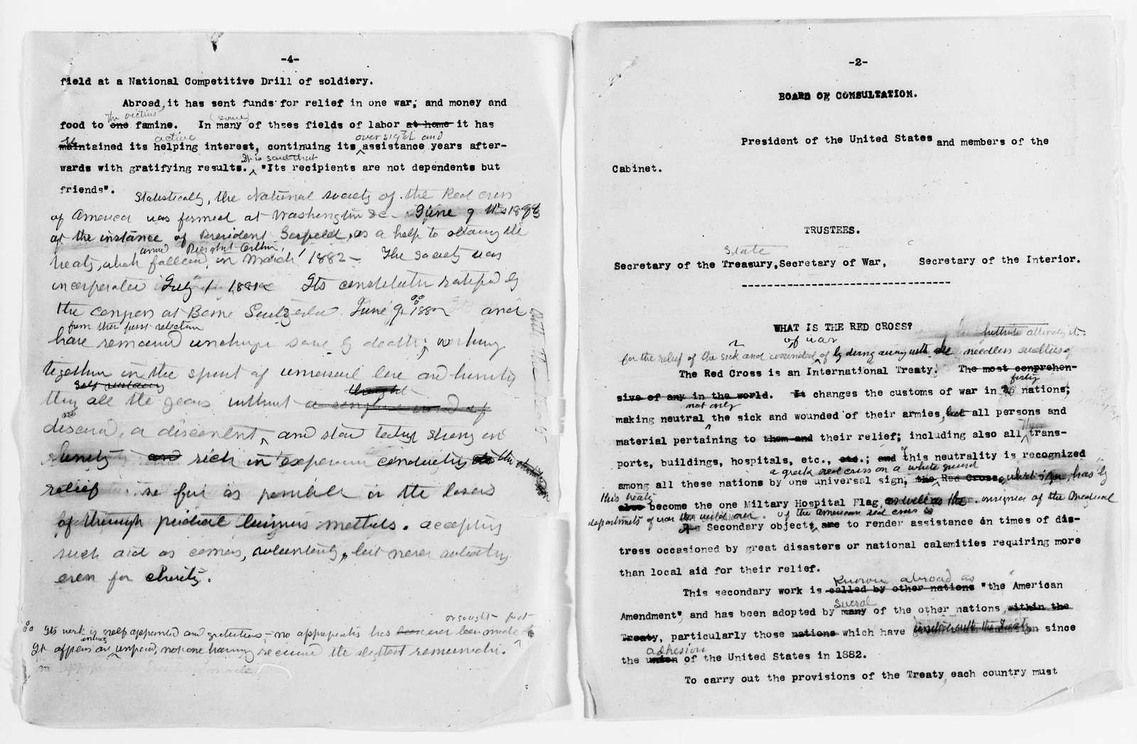 Clara Barton Papers: Speeches and Writings File, 1849-1947; Articles and other writings; Drafts; Undated