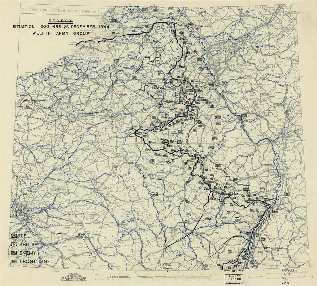 [December 26, 1944], HQ Twelfth Army Group situation map.