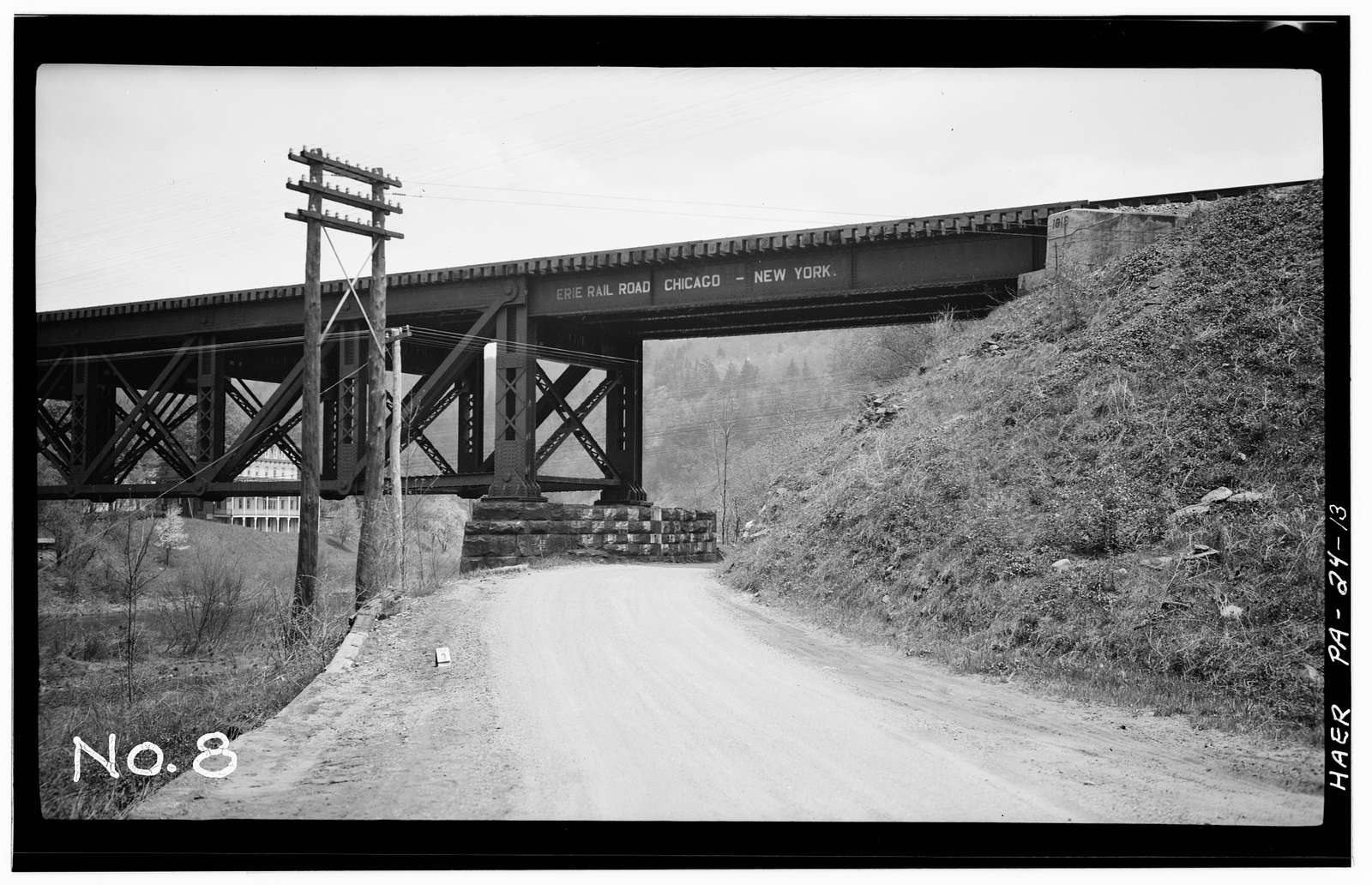 Erie Railway, Delaware Division, Bridge 110.54, Spanning Lackawaxen River, East of State Route 590, Lackawaxen, Pike County, PA