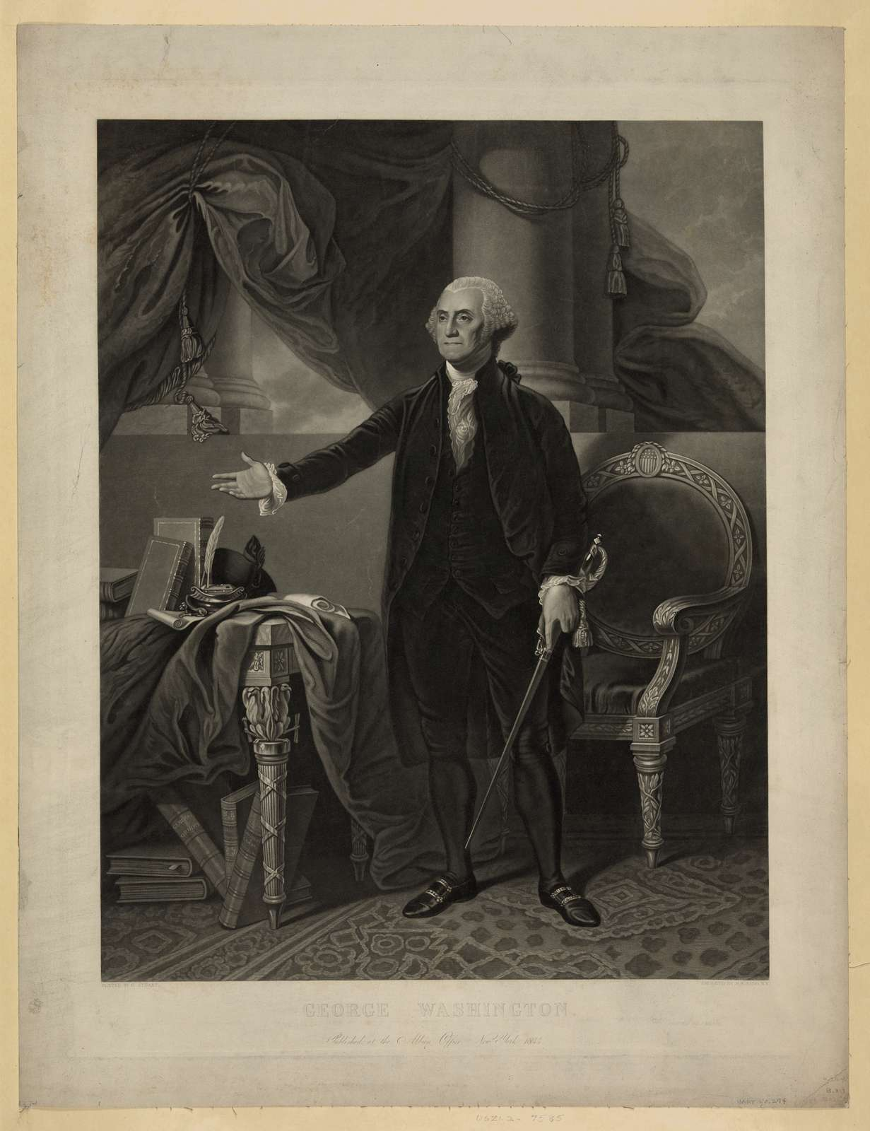 George Washington / painted by G. Stuart ; engraved by H.S. Sadd, N.Y.