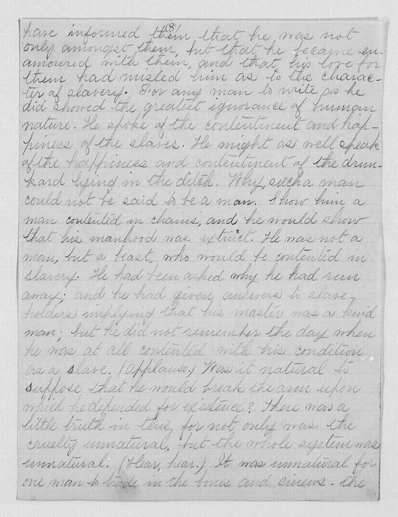 Address at Antislavery Meeting, Glasgow, Scotland, Copy of Newspaper Account