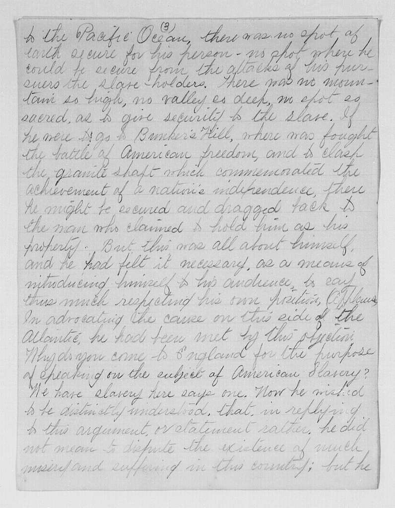 Address at Antislavery Meeting, Glasgow, Scotland, Copy of Newspaper Account