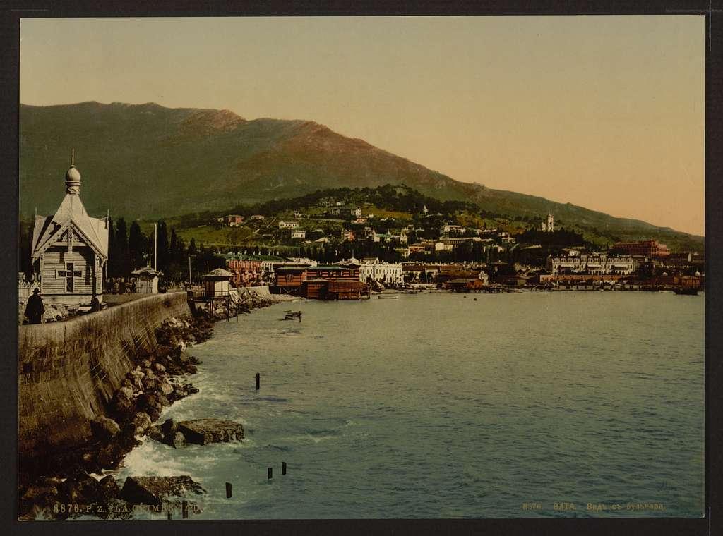 [From the boulevard, Jalta, (i.e., Yalta), the Crimea, Russia, (i.e., Ukraine)]