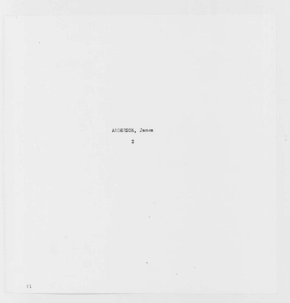 George Washington Papers, Series 7, Applications for Office, 1789-1796: James Anderson