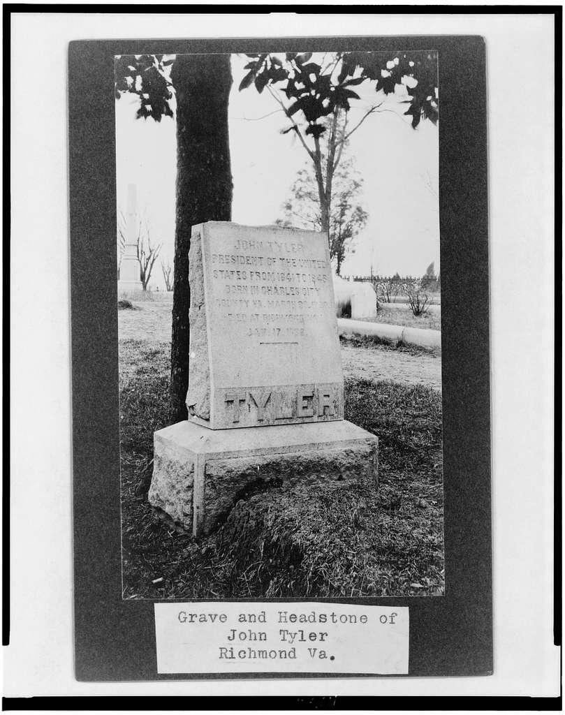 Grave and headstone of John Tyler, Richmond Va.