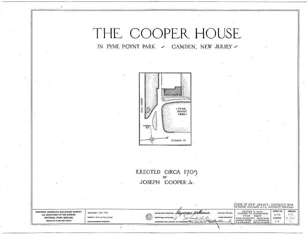 Joseph Cooper House, Pyne Point Park, Camden, Camden County, NJ