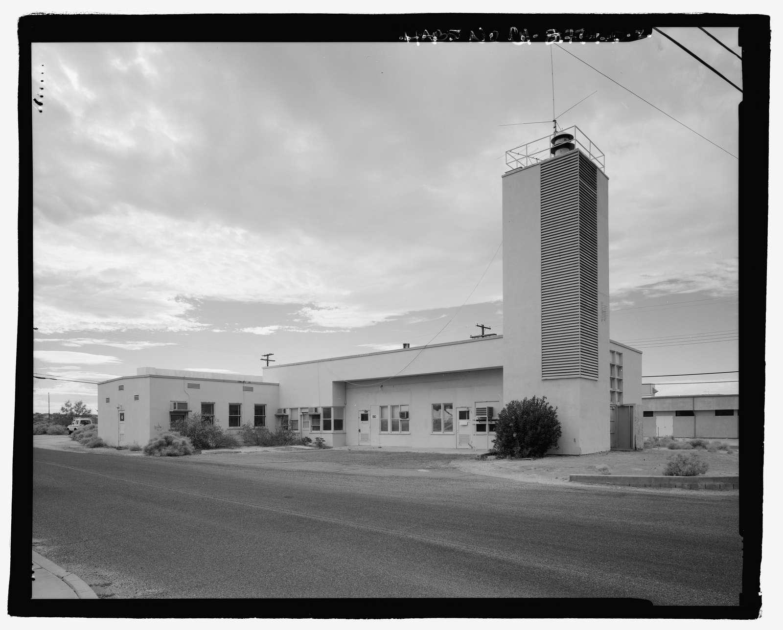 Naval Ordnance Test Station Inyokern, China Lake Pilot Plant, Fire Station & Marine Barracks, D Street, at corner of 4th Street, China Lake, Kern County, CA