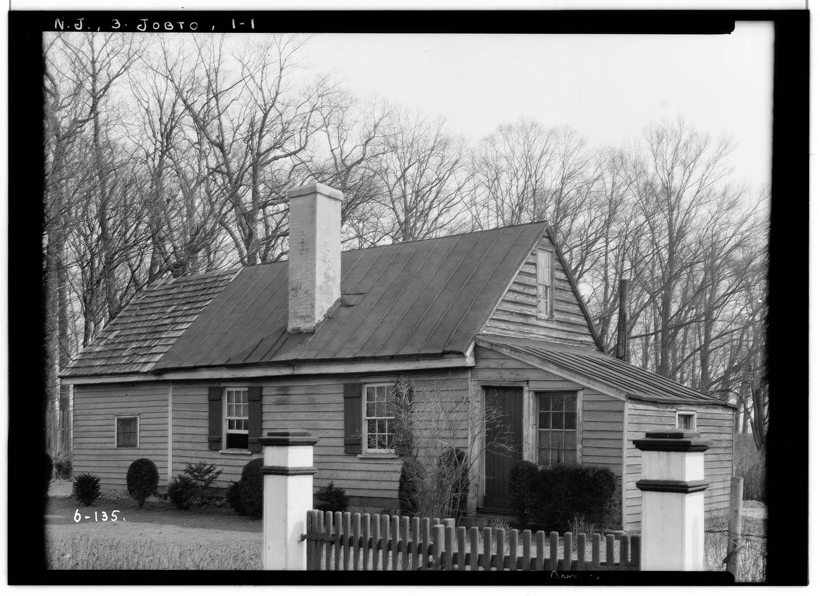 Newbold-Hoffman House, Monmouth Road, Jobstown, Burlington County, NJ