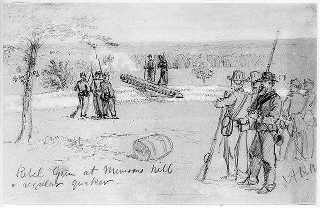 Rebel Gun at Munsons hill--a regular quaker