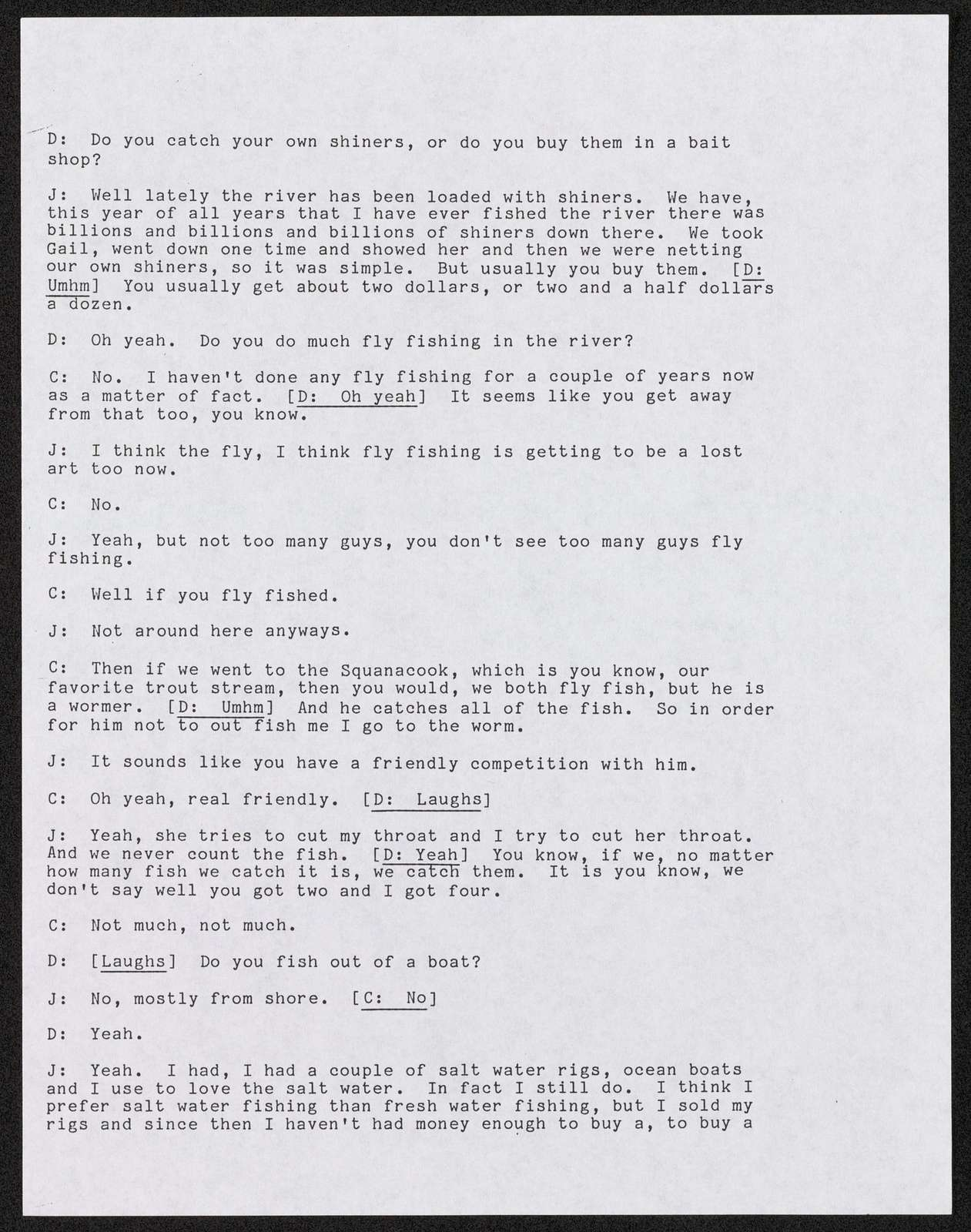 Transcripts of Interviews Conducted by David Taylor (1 of 2), Lowell Folklife Project collection