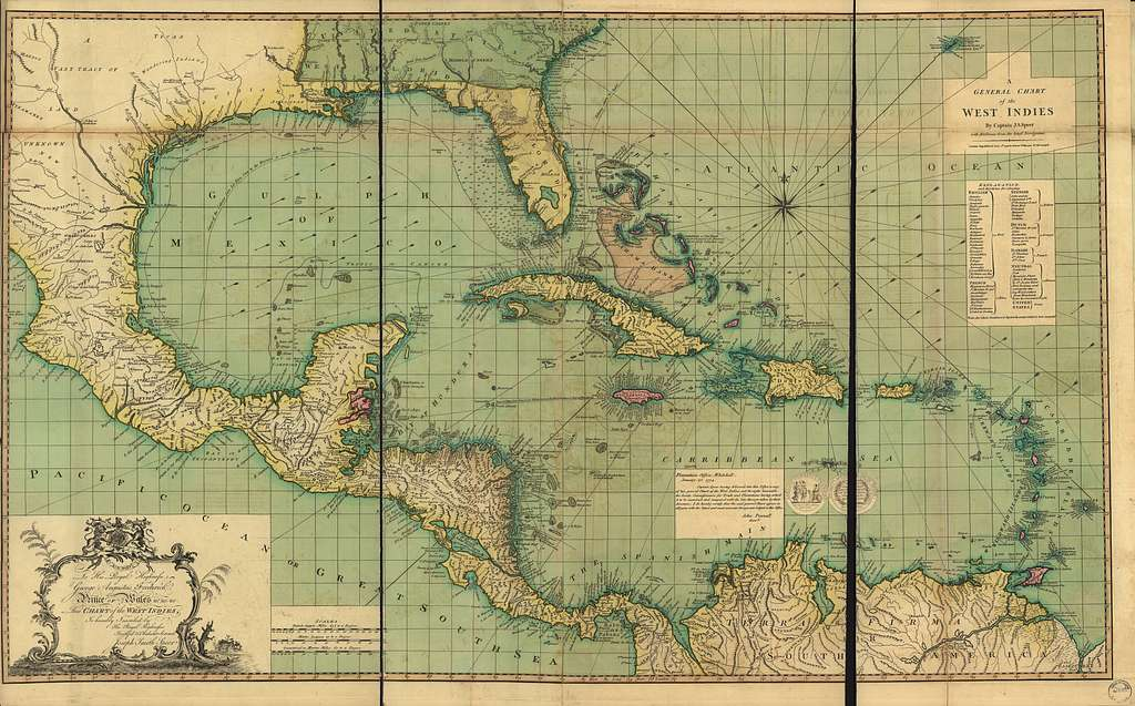 A general chart of the West Indies.