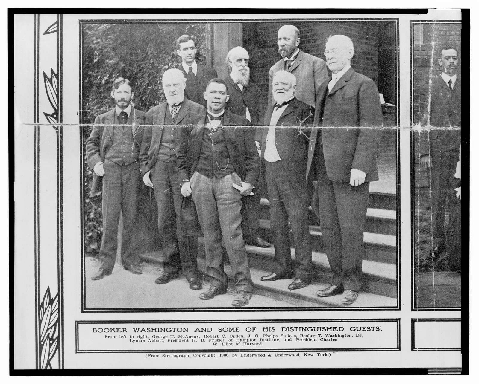 Booker Washington and some of his distinguished guests