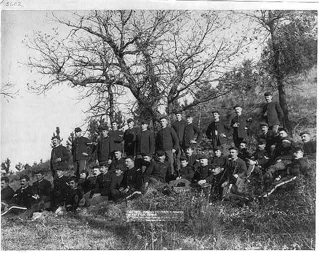 "Company ""C,"" 3rd U.S. Infantry near Fort Meade, So. Dak."