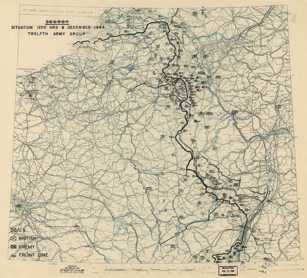 [December 8, 1944], HQ Twelfth Army Group situation map.