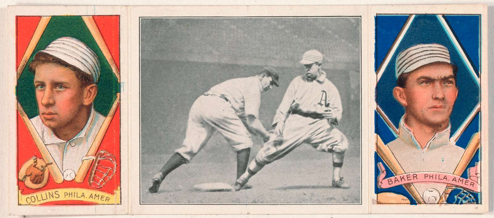 [Edw. T. Collins/Frank Baker, Philadelphia Athletics, baseball card portrait]