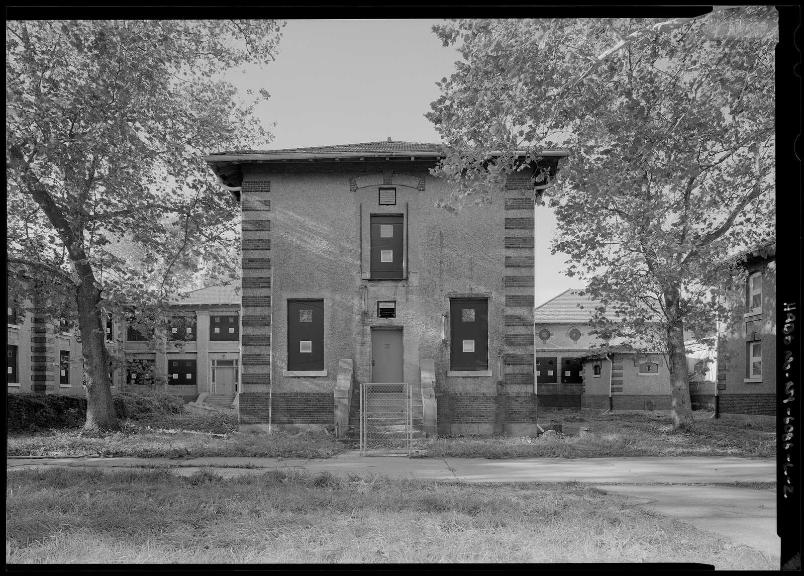 Ellis Island, Contagious Disease Hospital Measles Ward G, New York Harbor, New York, New York County, NY