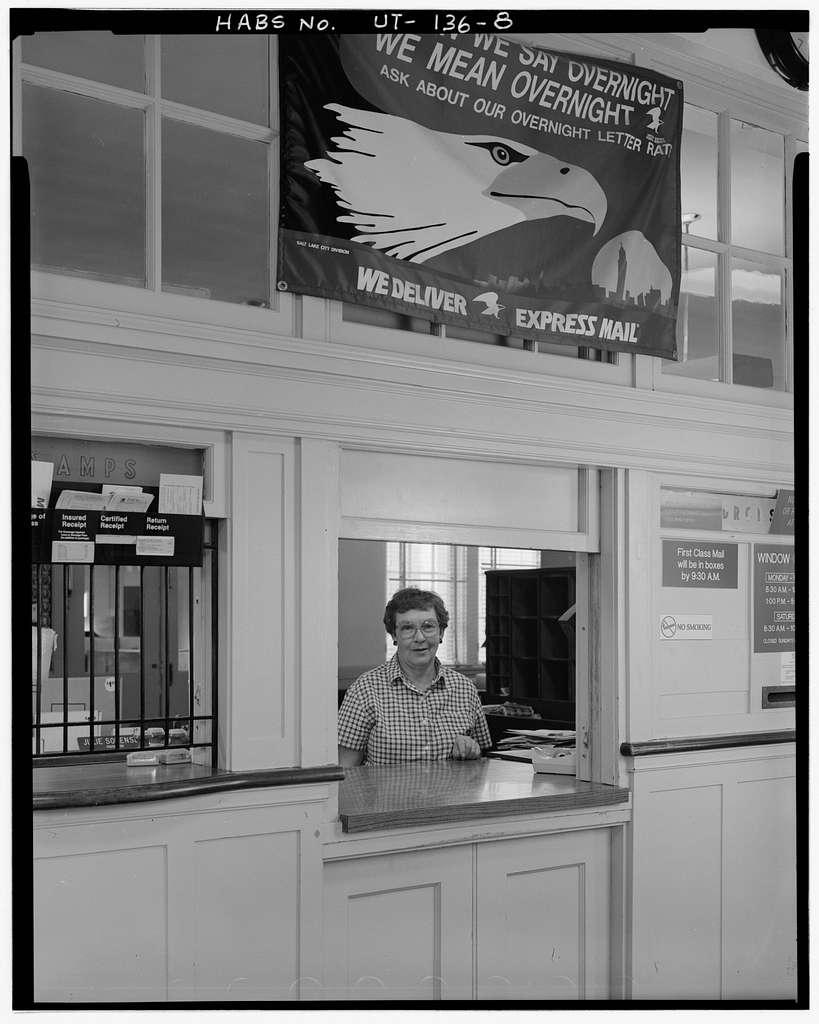 Eureka Post Office, 205 Main, southeast corner of Main & Wallace Alley, Eureka, Juab County, UT