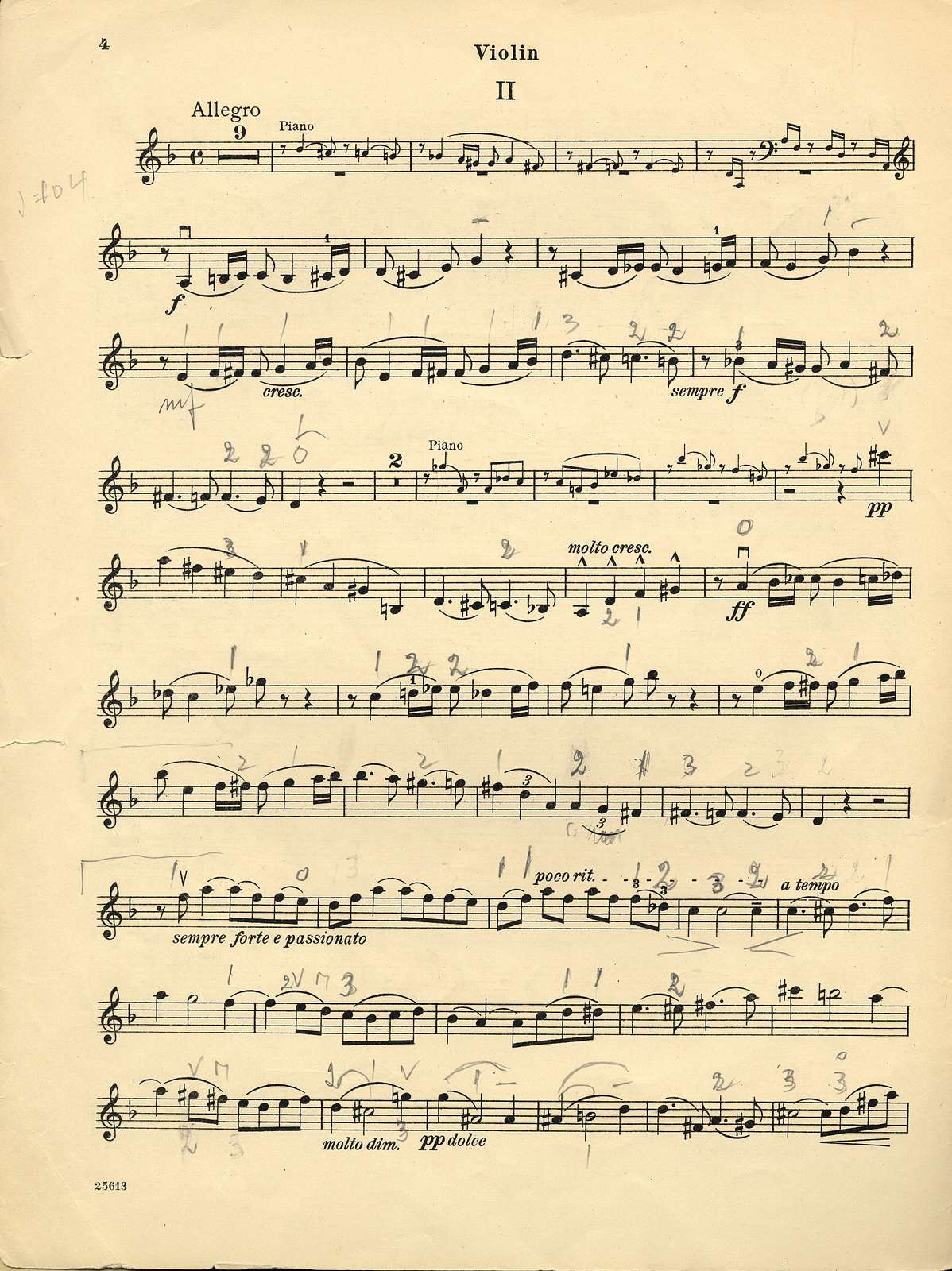 Franck, César. Sonata for Violin and Piano, A major